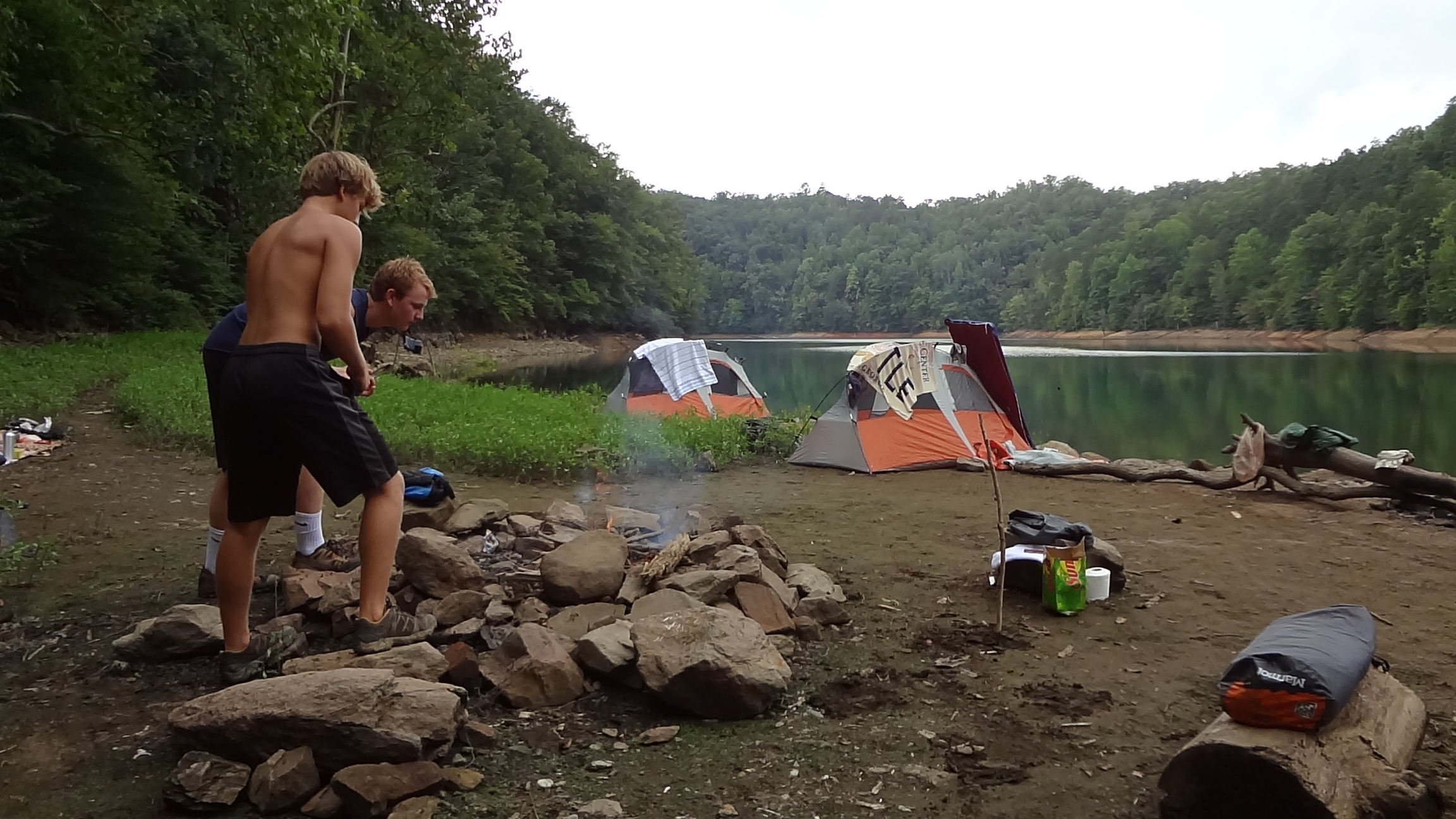 Great Smoky Mountains Backcountry Camping At Site 66 Fire 2